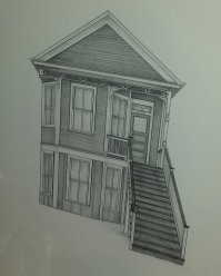 Galveston, TX House Drawing