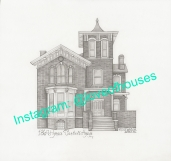 Brush Park Detroit, MI Art House Drawing